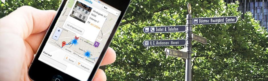 Find vej til spisested via smartphone
